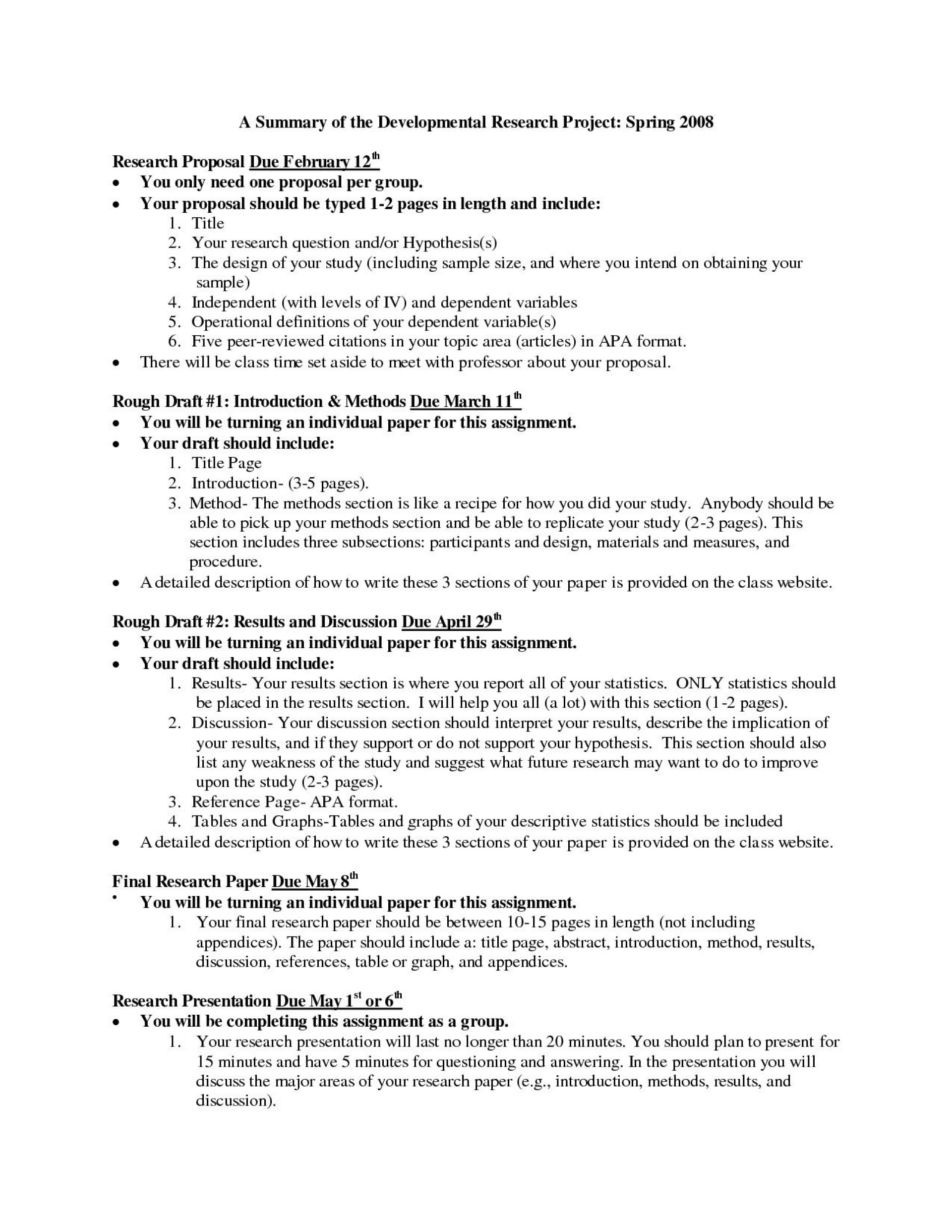 007 Frightening Research Paper Proposal Template Apa Inspiration 1920