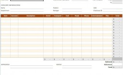 007 Frightening Small Busines Expense Report Template Excel Example