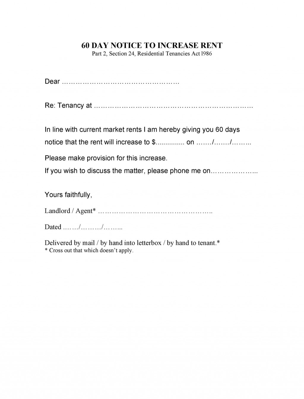 007 Imposing 60 Day Notice Template Highest Clarity  To Landlord Move Out Letter Apartment LeaseLarge