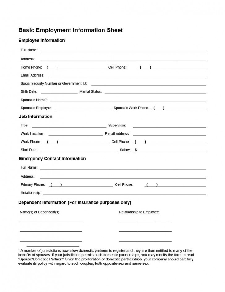 007 Imposing Employee Personnel File Template Design  Uk Excel Form728