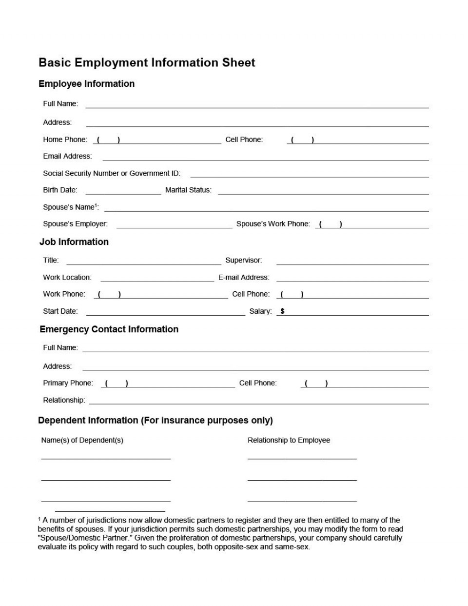 007 Imposing Employee Personnel File Template Design  Uk Excel Form960