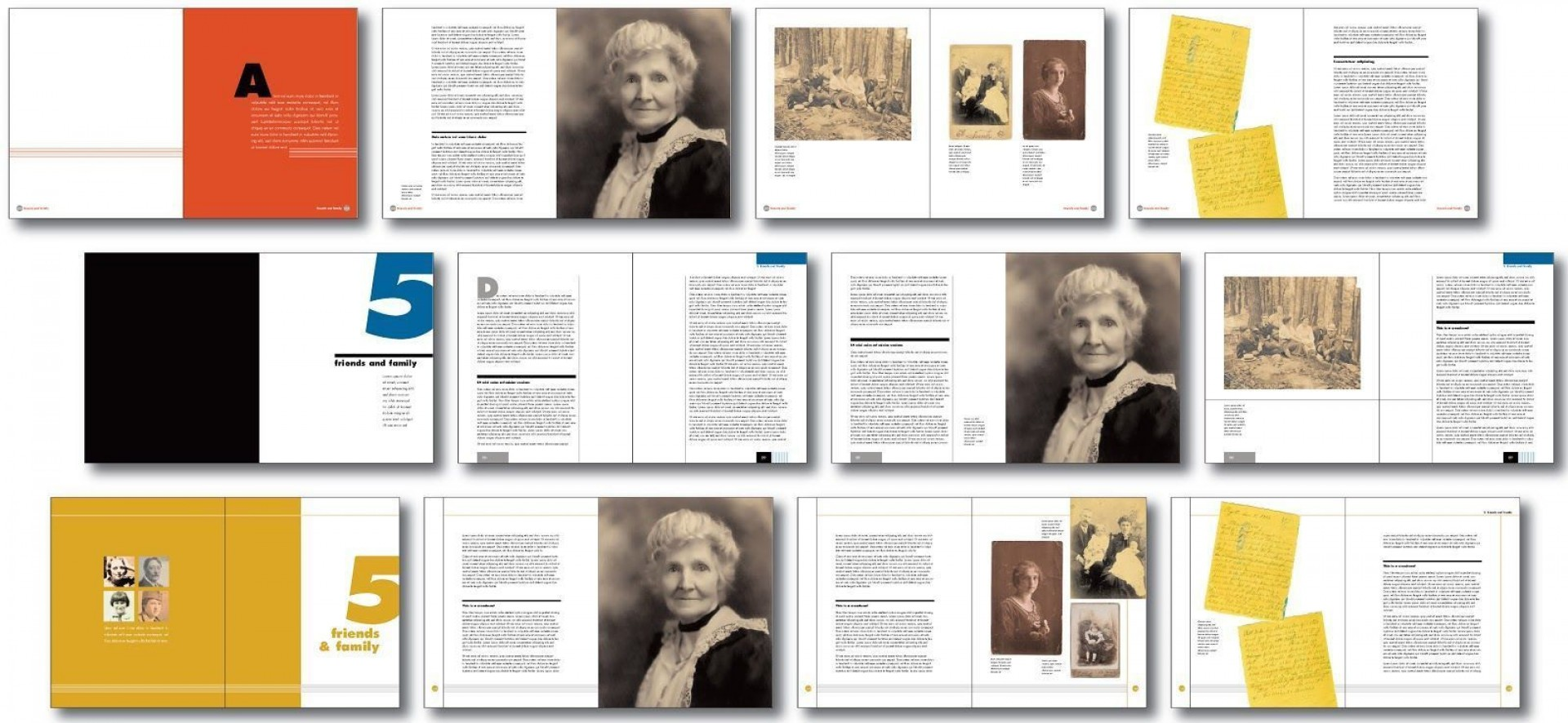 007 Imposing Family History Book Template High Resolution  Sample Writing A1920