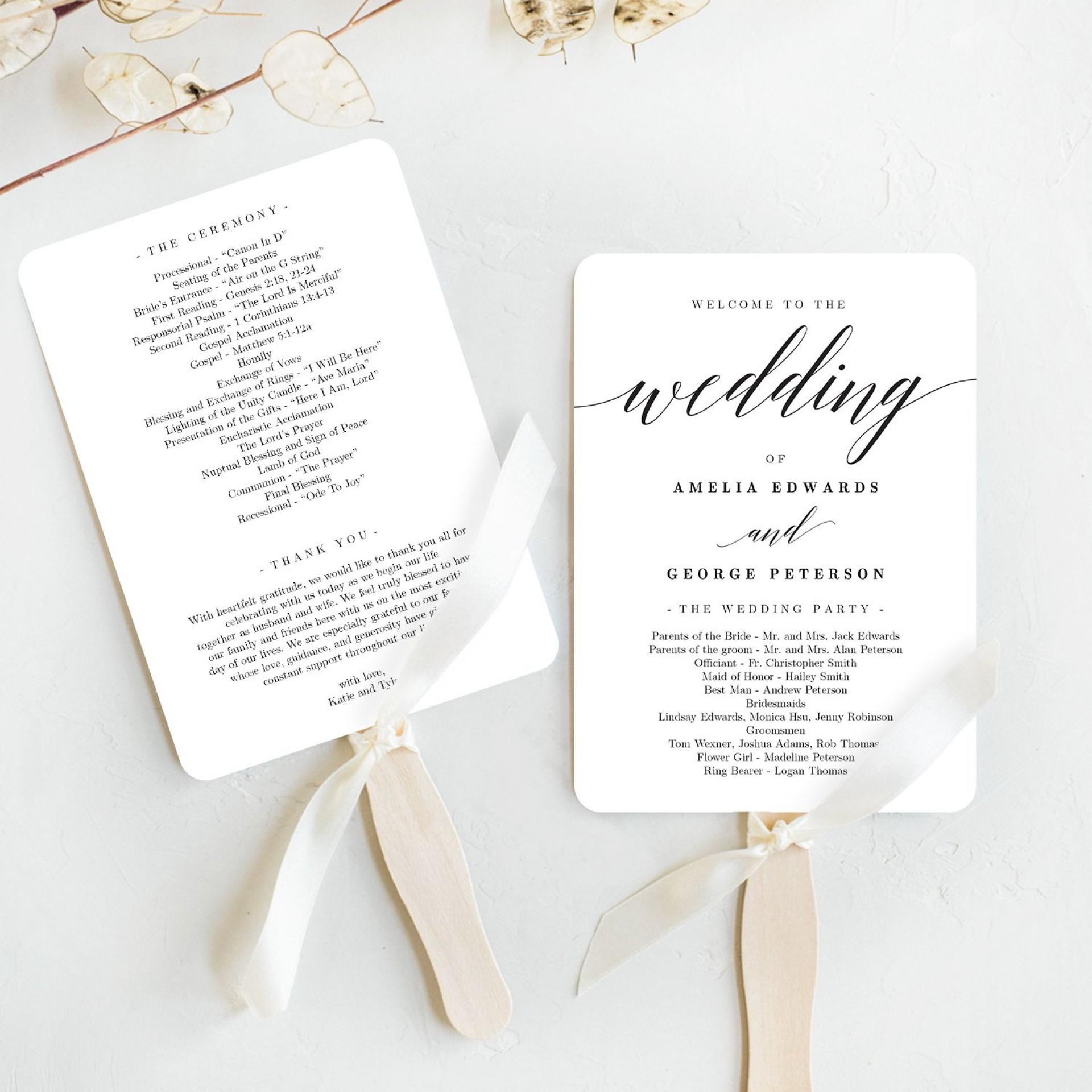 007 Imposing Free Download Template For Wedding Program Design  Programs1920