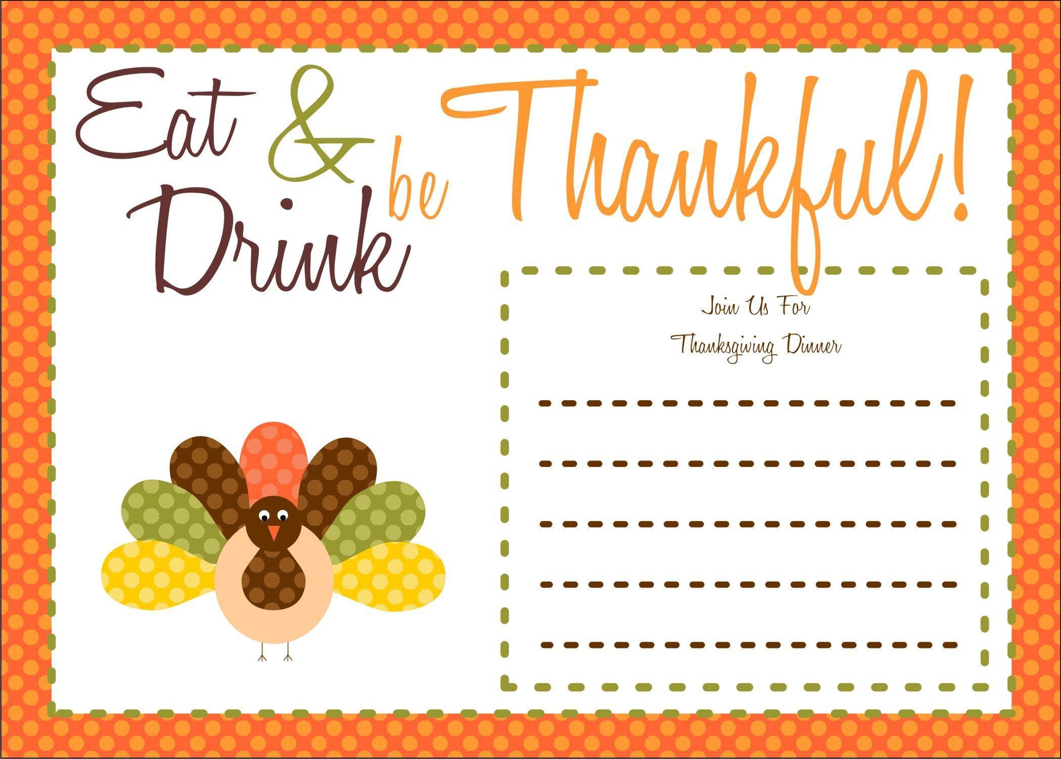 007 Imposing Free Thanksgiving Invitation Template High Def  Templates Printable Dinner Download PotluckFull