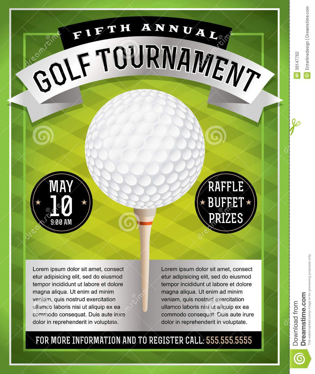 007 Imposing Golf Tournament Flyer Template Image  Word Free PdfFull