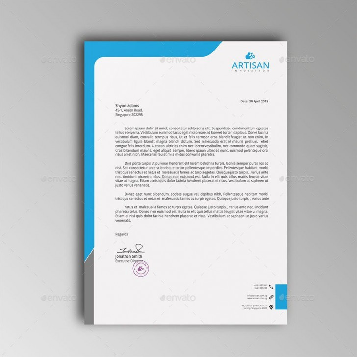 007 Imposing Letterhead Template Free Download Ai High Definition  File728