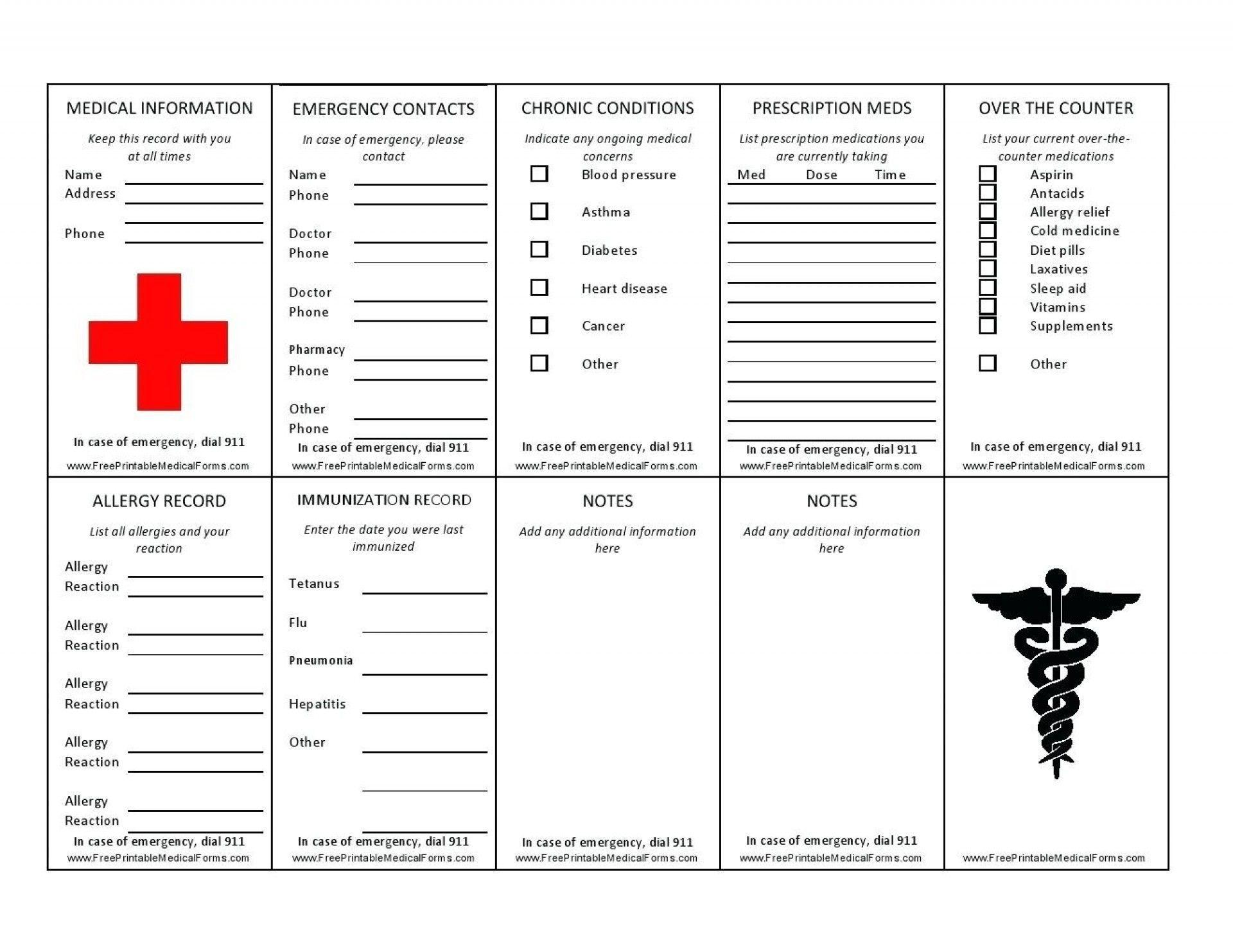 007 Imposing Medical Wallet Card Template Design  Free Alert Canada InformationFull