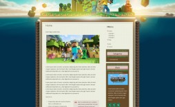 007 Imposing Minecraft Website Template Html Free Download Image