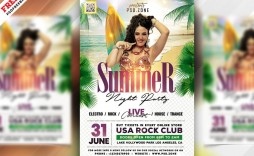 007 Imposing Summer Party Flyer Template Free Download Concept