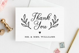007 Imposing Wedding Thank You Card Template Highest Clarity  Photoshop Word Etsy