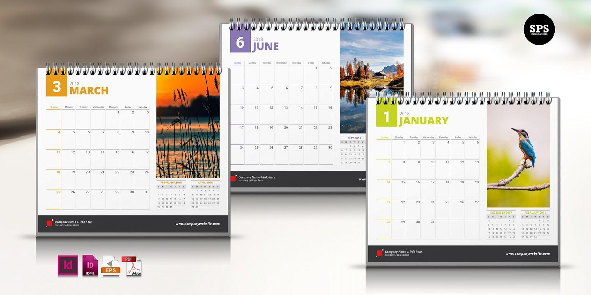 007 Impressive 2020 Calendar Template Indesign Design  Adobe Free1920