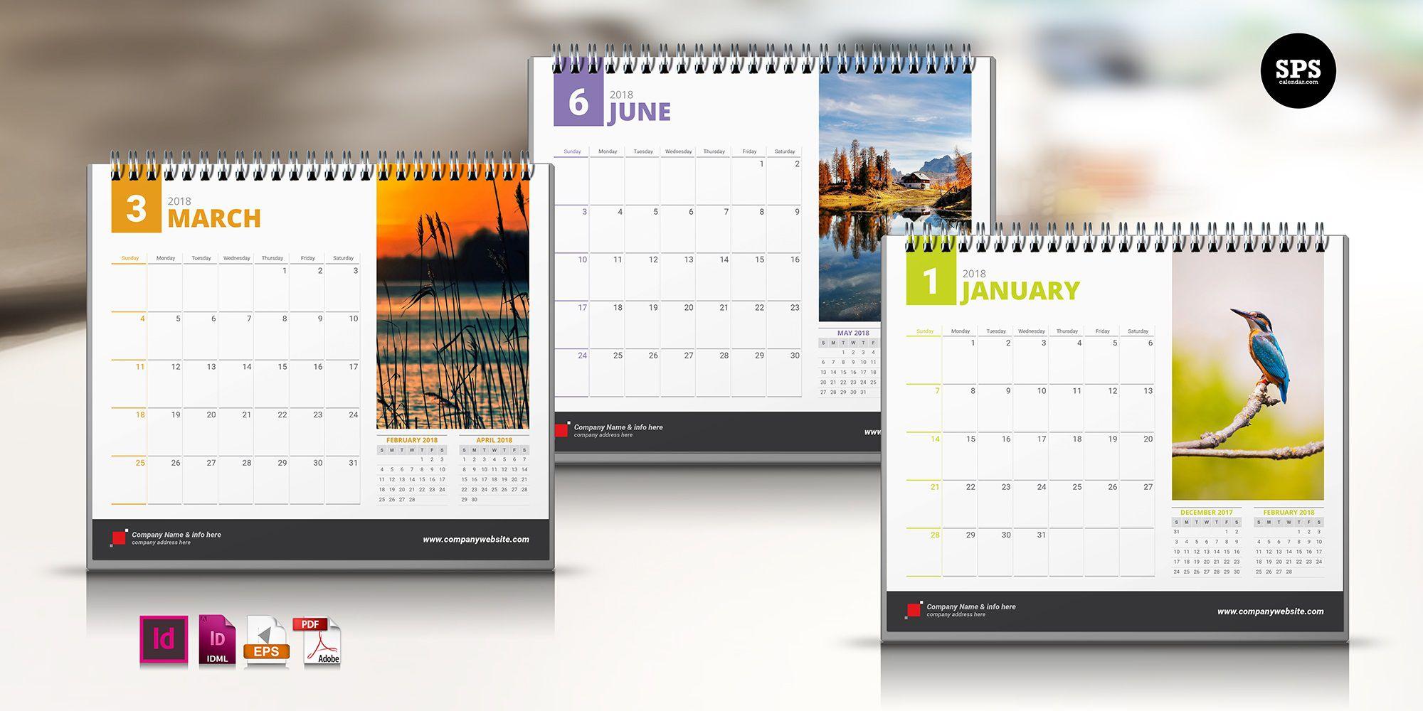 007 Impressive 2020 Calendar Template Indesign Design  Adobe FreeFull
