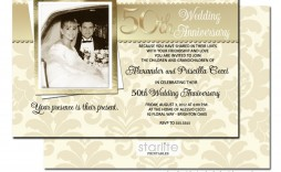 007 Impressive 50th Wedding Anniversary Invitation Design Example  Designs Wording Sample Card Template Free Download