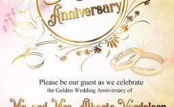 007 Impressive 50th Wedding Anniversary Invitation Sample High Resolution  Samples Free Party Template Card Idea
