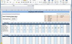 007 Impressive 8 Hour Shift Schedule Template High Resolution  Best Rotating Example Work Day