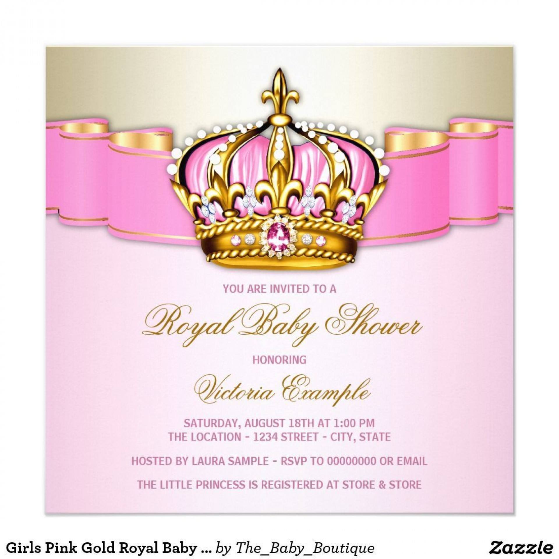 007 Impressive Baby Shower Invitation Girl Princes High Definition  Princess Theme1920