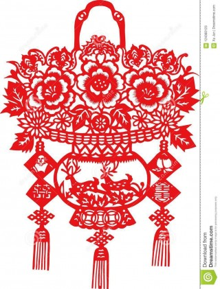 007 Impressive Chinese Paper Cut Template Sample 320