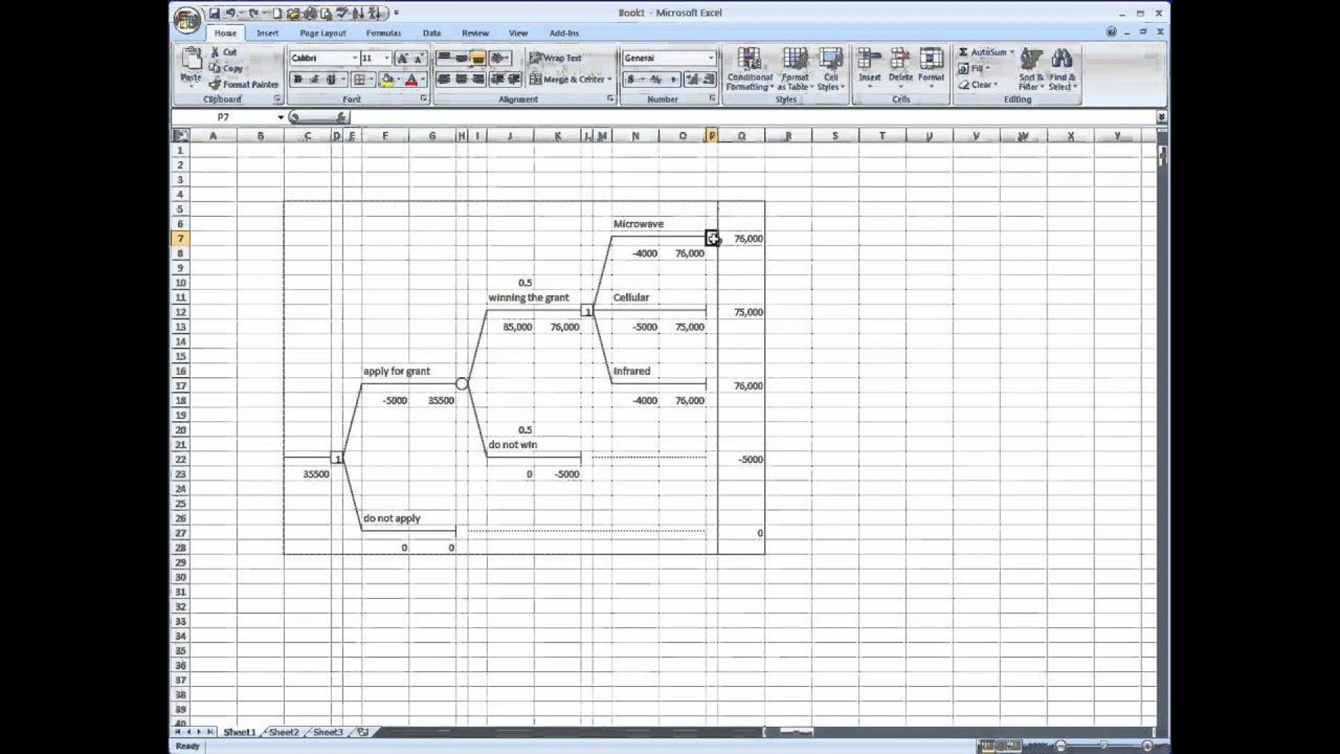 007 Impressive Decision Tree Template Excel Free High Resolution  In Word Or1920