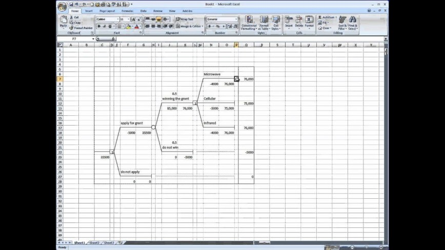 007 Impressive Decision Tree Template Excel Free High Resolution  In Word Or