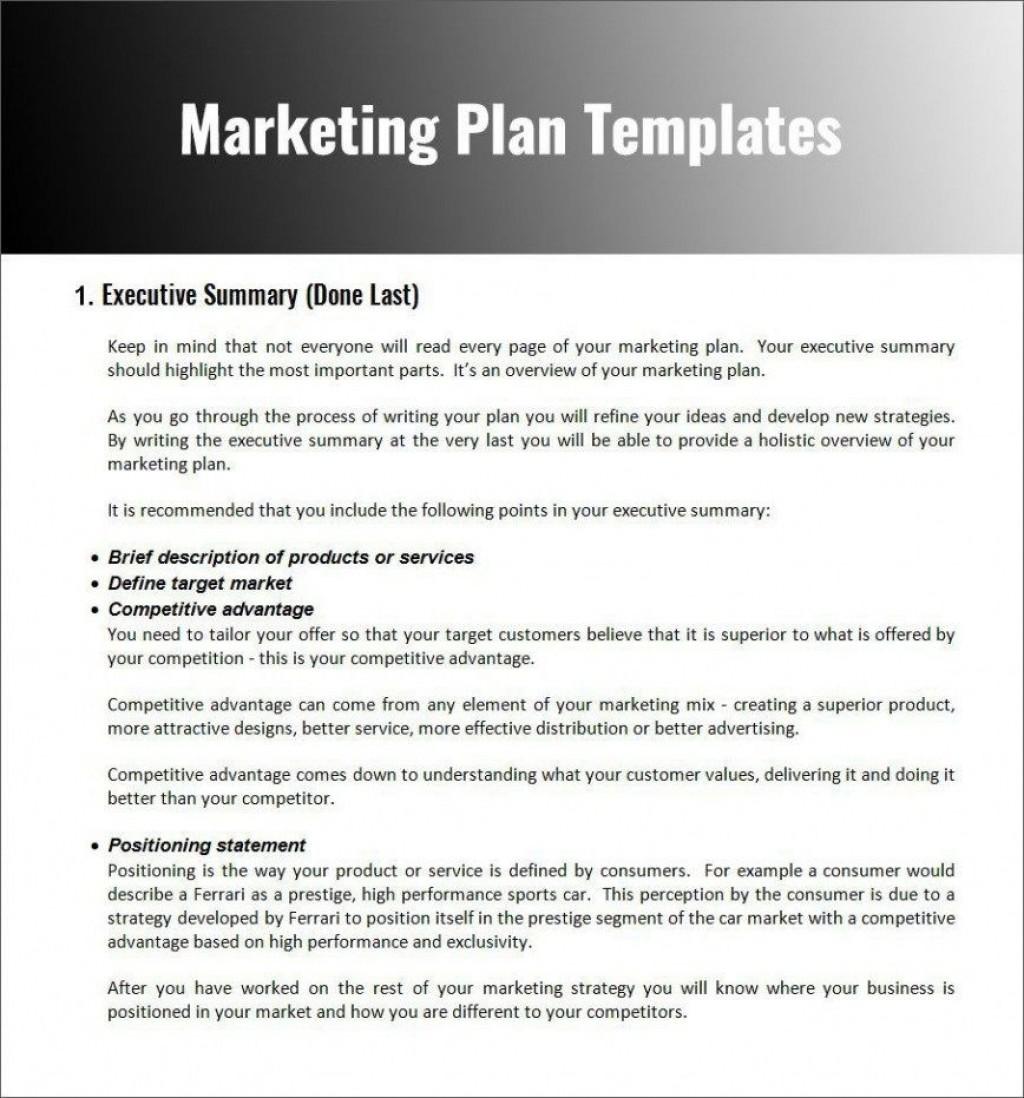 007 Impressive Digital Marketing Plan Template Word Idea Large