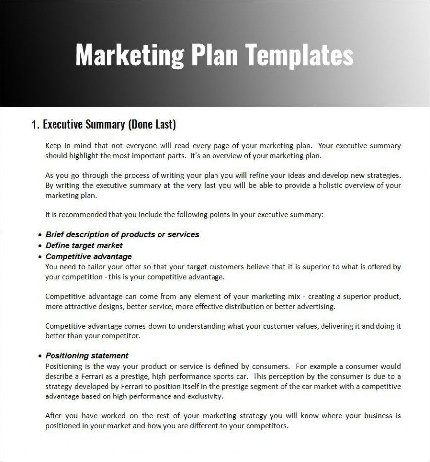 007 Impressive Digital Marketing Plan Template Word Idea Full
