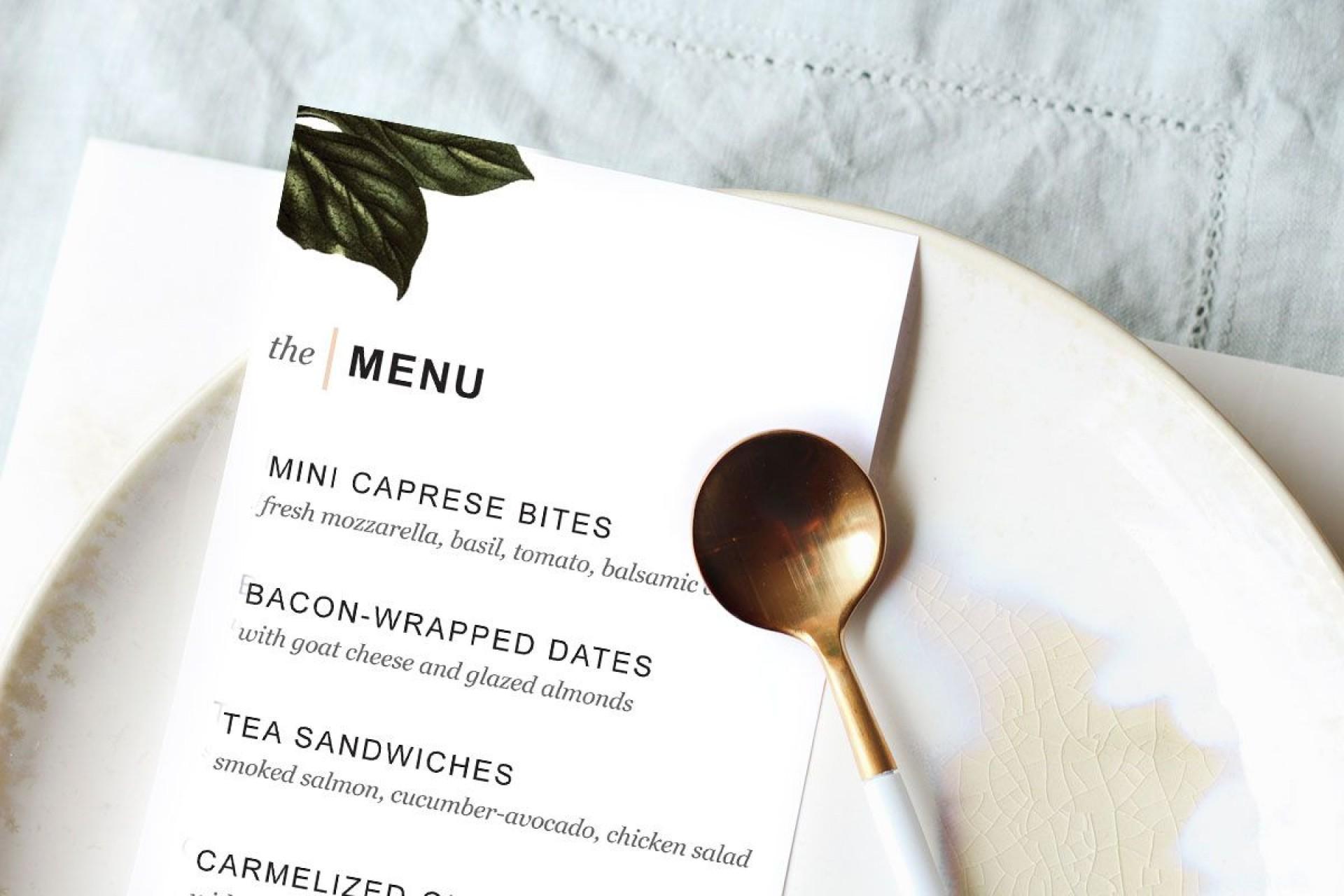 007 Impressive Dinner Party Menu Template Design  Word Elegant Free Google Doc1920
