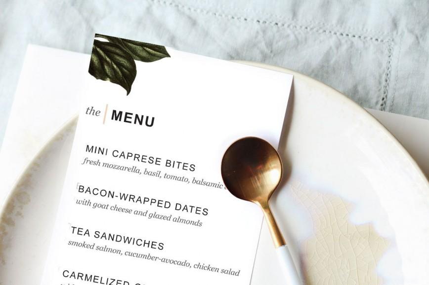007 Impressive Dinner Party Menu Template Design  Card Free Italian