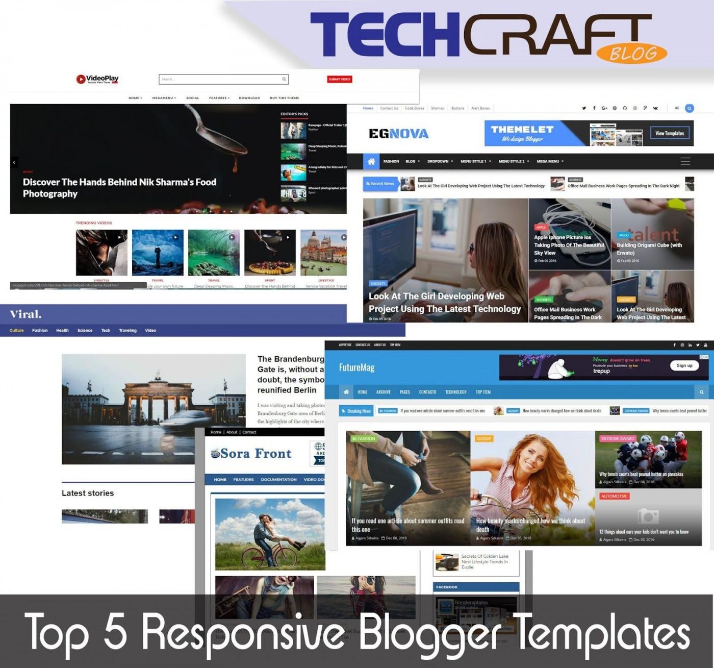 007 Impressive Download Free Responsive Blogger Template Picture  Newspaper - Magazine Premium1400
