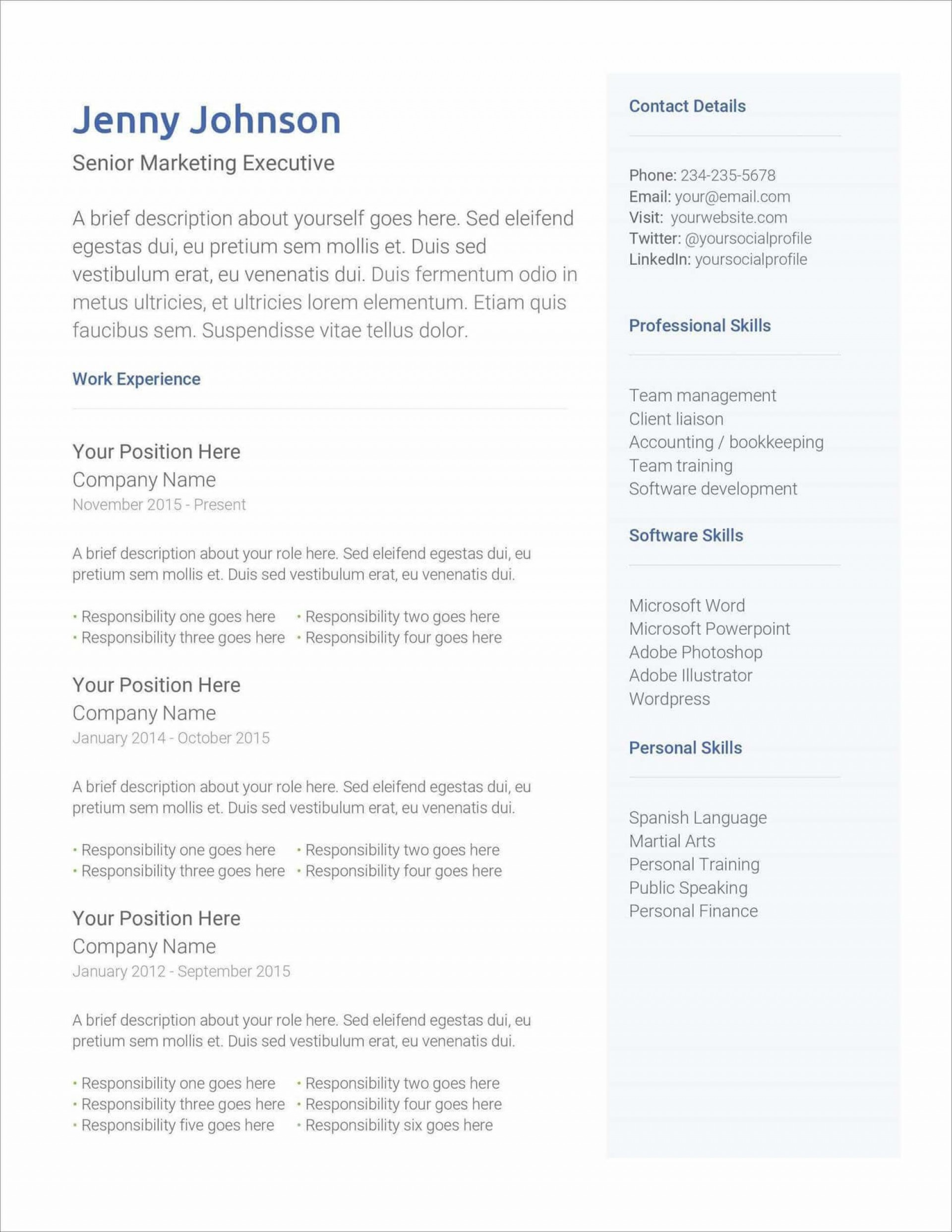 007 Impressive Easy Free Resume Template Design  Templates Online Download Quick Builder1920