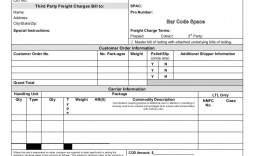 007 Impressive Free Bill Of Lading Template High Resolution  Download Pdf Form