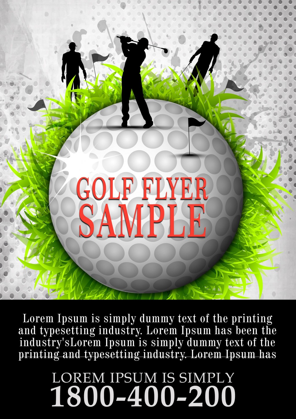 007 Impressive Free Charity Golf Tournament Flyer Template Example Large