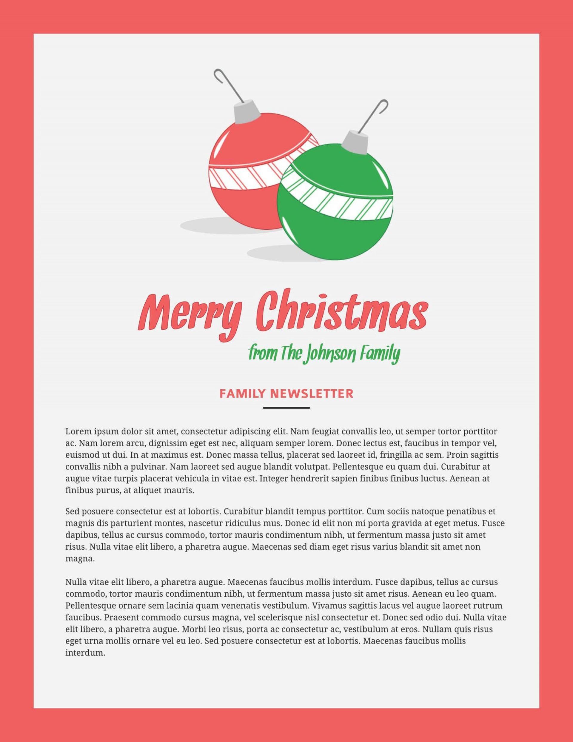 007 Impressive Free Christma Newsletter Template Microsoft Word High Resolution 1920