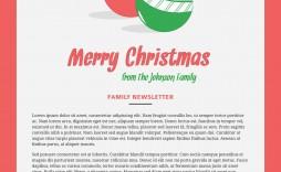 007 Impressive Free Christma Newsletter Template Microsoft Word High Resolution