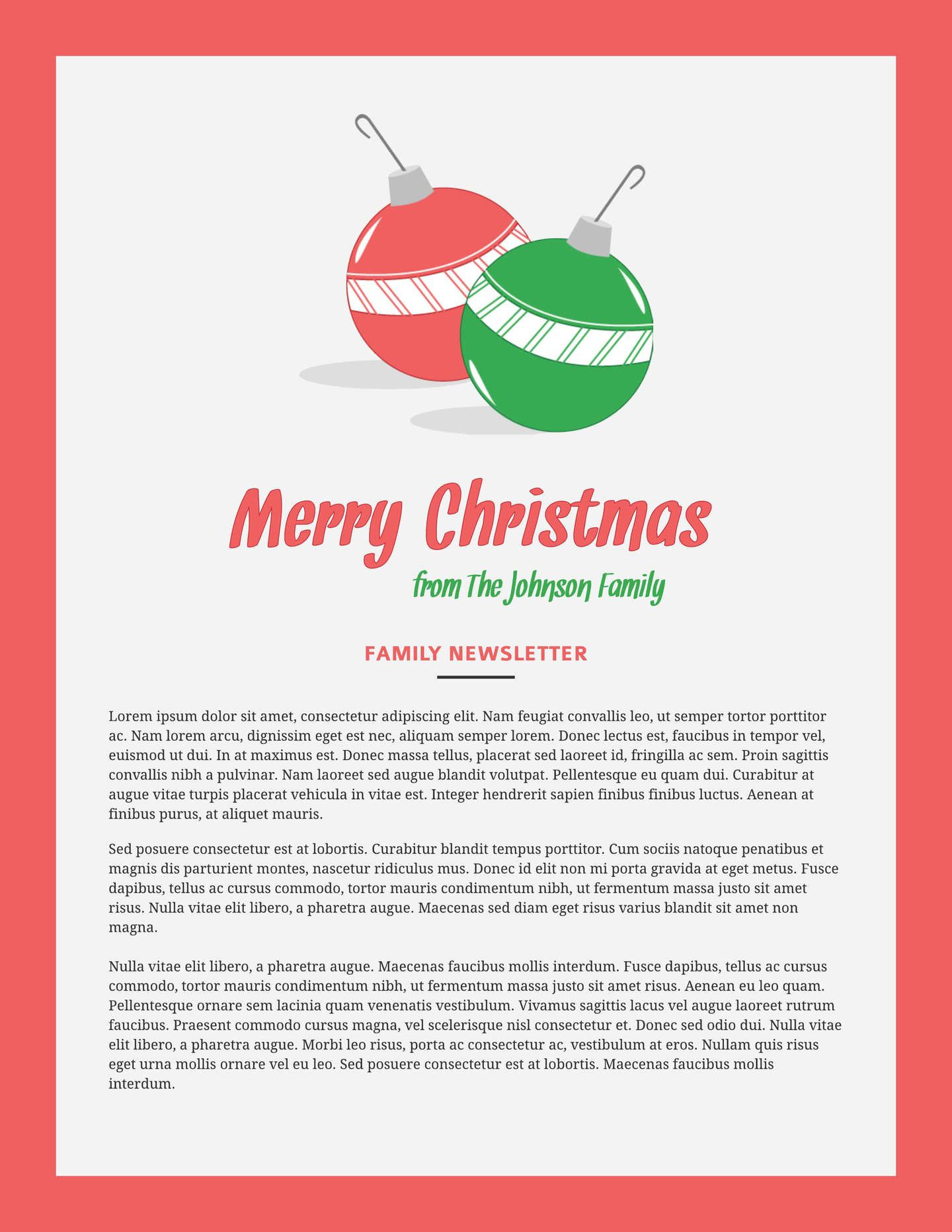 007 Impressive Free Christma Newsletter Template Microsoft Word High Resolution Full