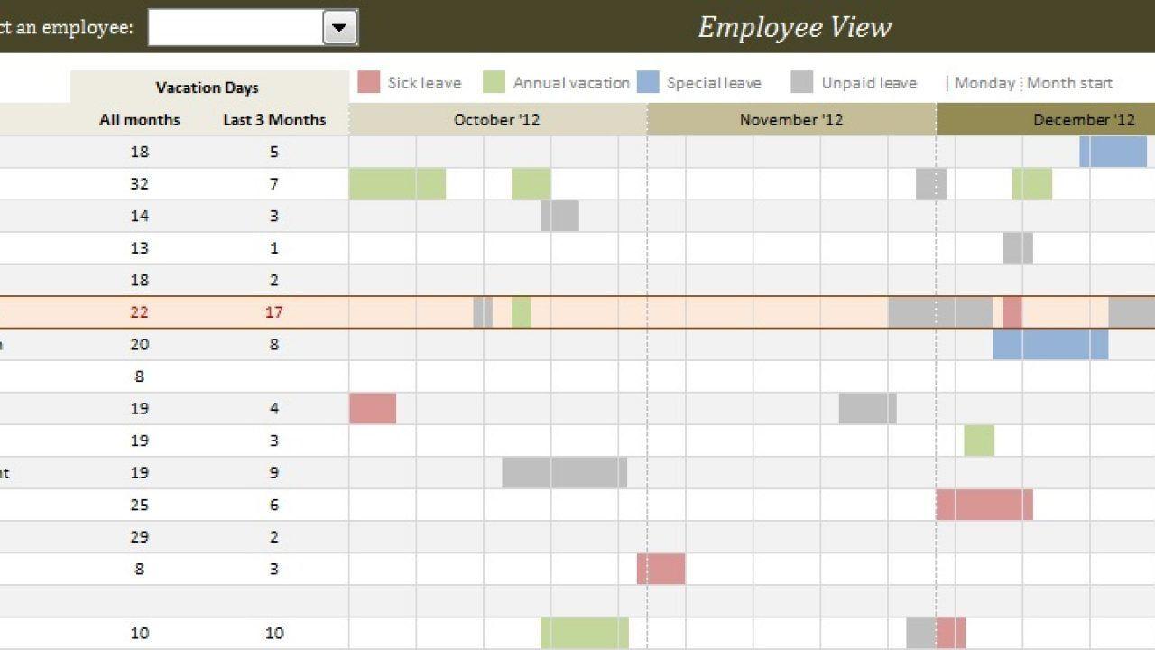 007 Impressive Free Excel Staff Holiday Planner Template High Def  2019 2020 UkFull