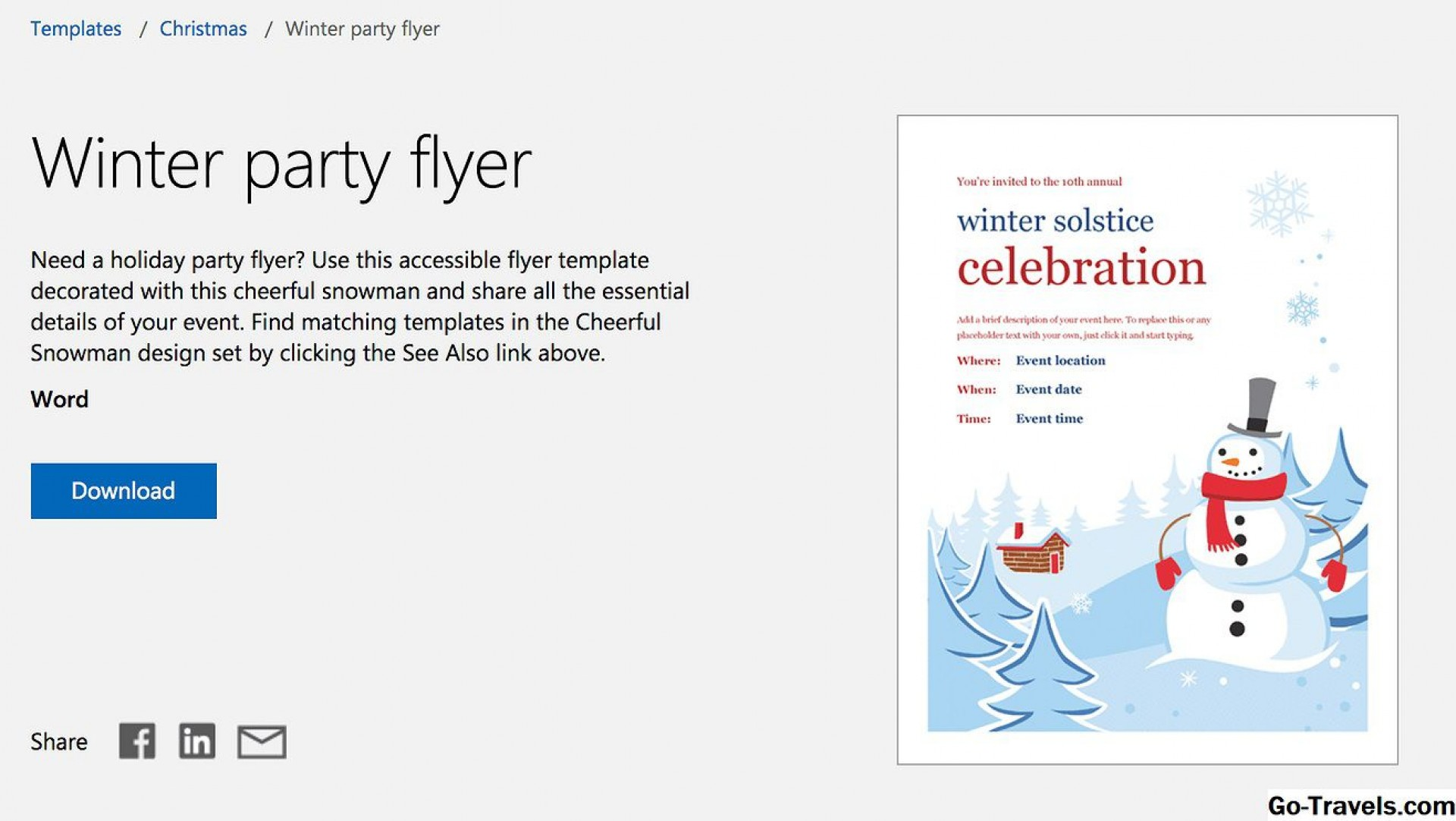 007 Impressive Free Holiday Flyer Template Inspiration  Printable Christma Word Sale Party1920