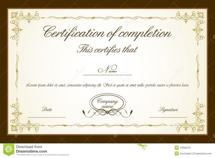 007 Impressive Free Printable Certificate Template High Resolution  Blank Gift For Word Pdf728