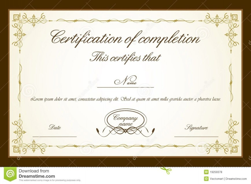 007 Impressive Free Printable Certificate Template High Resolution  Blank Gift For Word Pdf868