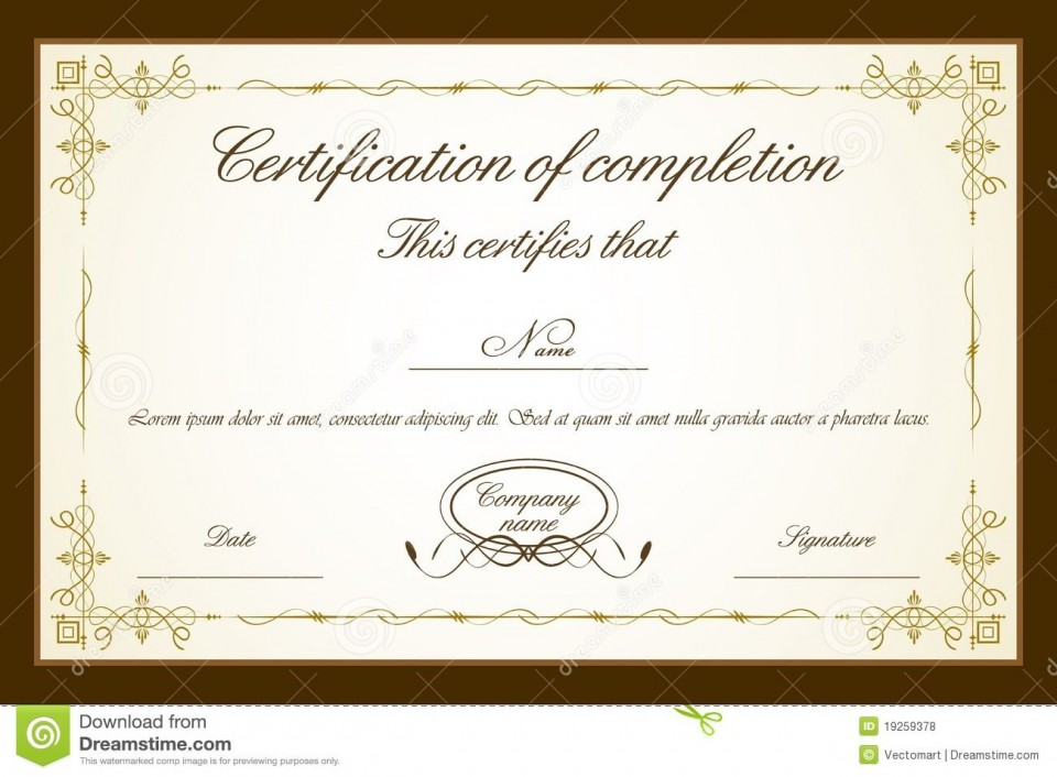 007 Impressive Free Printable Certificate Template High Resolution  Blank Gift For Word Pdf960