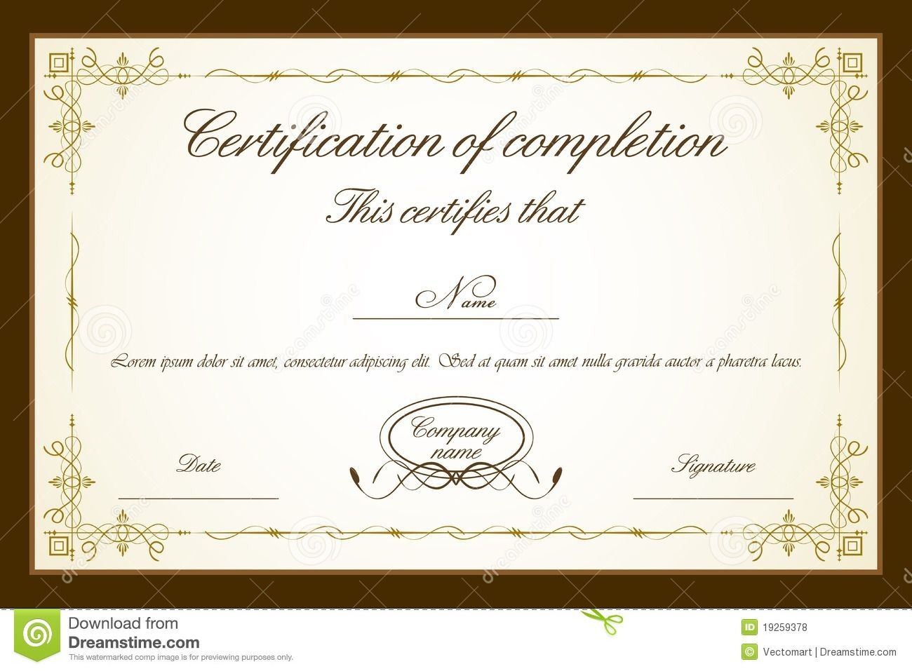 007 Impressive Free Printable Certificate Template High Resolution  Templates Blank Downloadable ParticipationFull