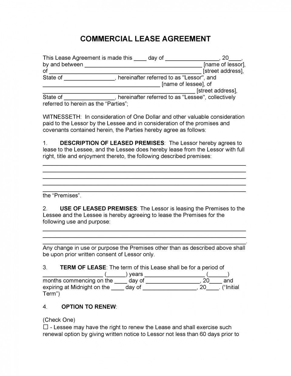 007 Impressive Free Rental Agreement Template Word Inspiration  South Africa House Lease Doc960