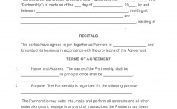 007 Impressive General Partnership Agreement Template High Definition  Word Canada Sample Free