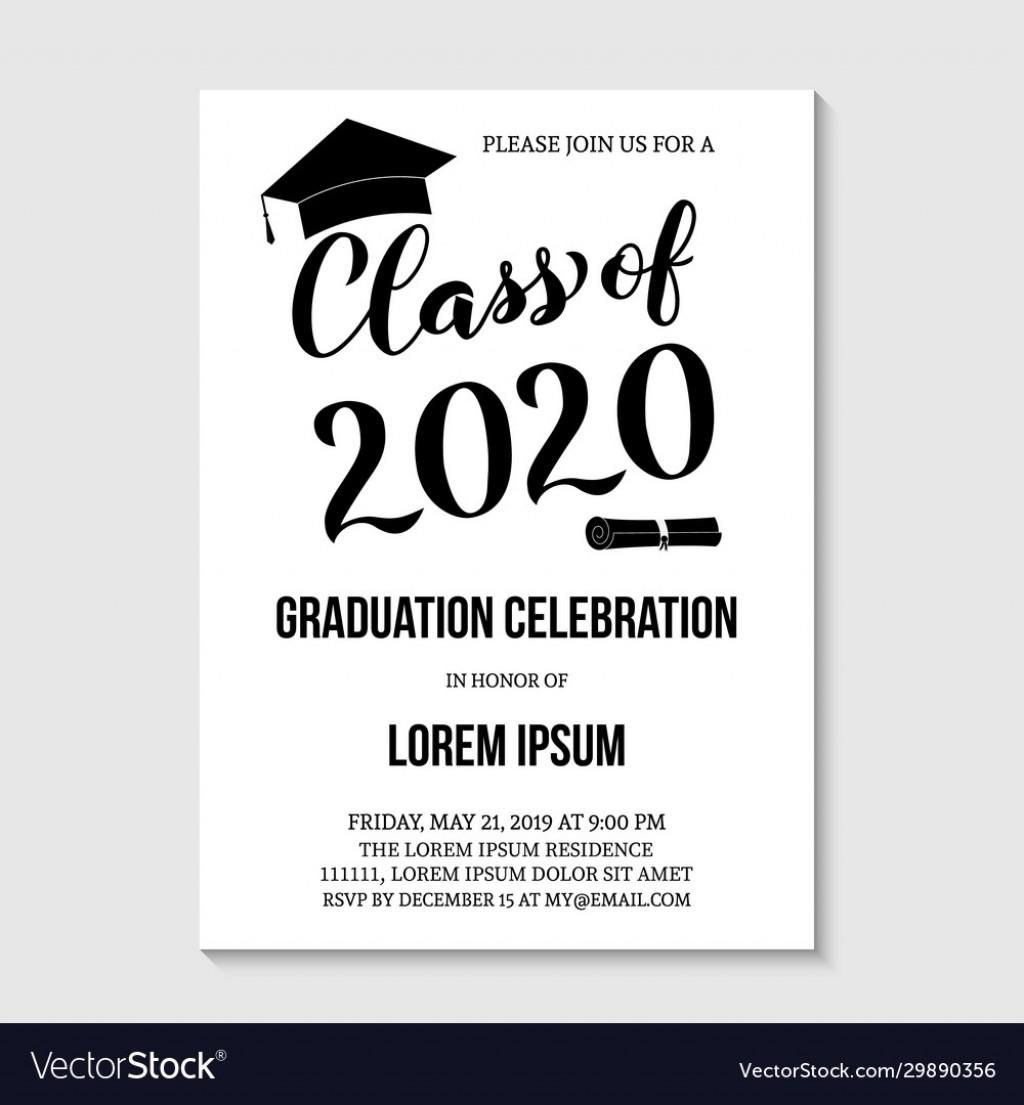 007 Impressive Graduation Party Invitation Template Concept  Microsoft Word 4 Per PageLarge