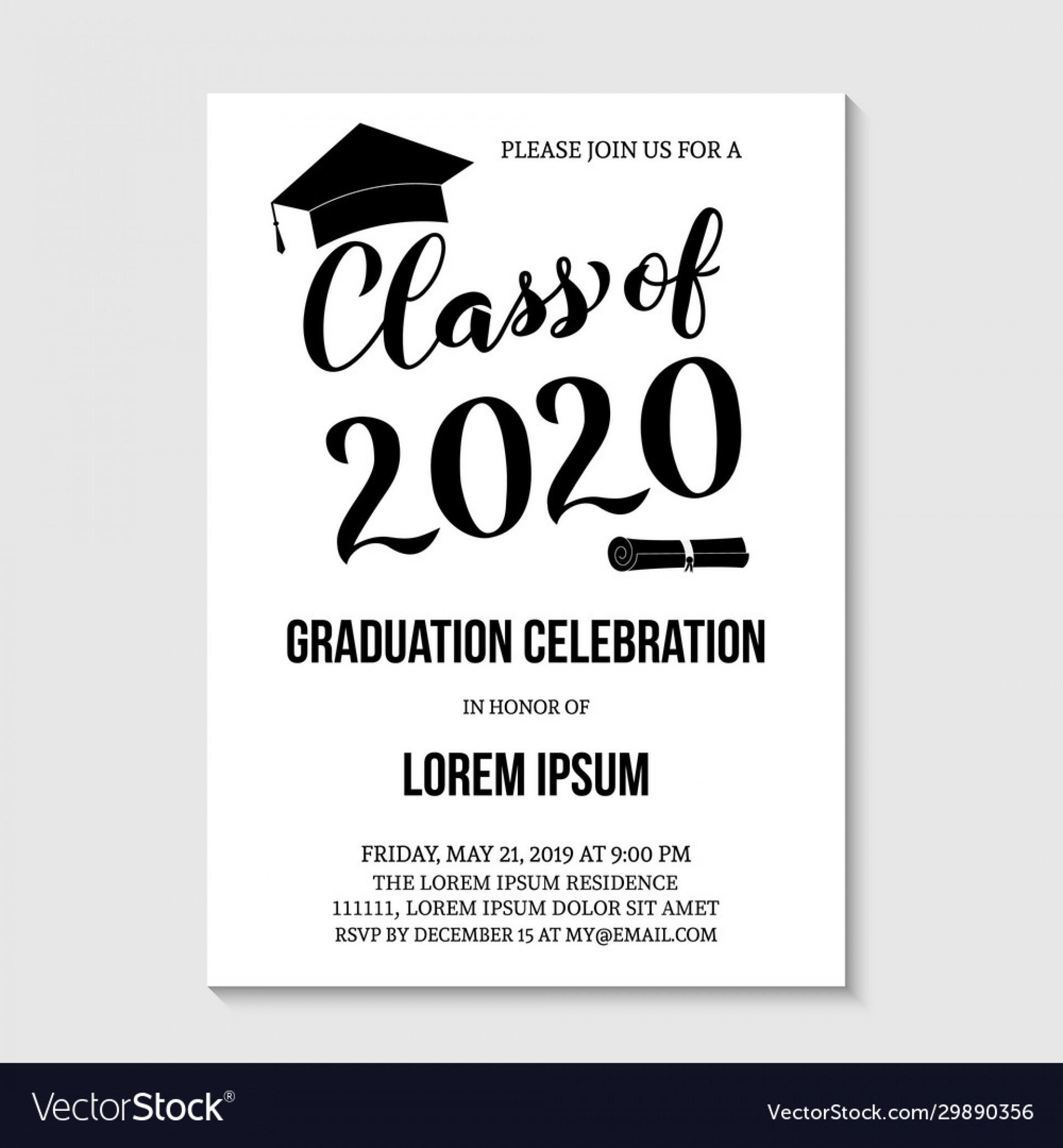 007 Impressive Graduation Party Invitation Template Concept  Microsoft Word 4 Per Page1920