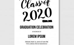 007 Impressive Graduation Party Invitation Template Concept  Microsoft Word 4 Per Page