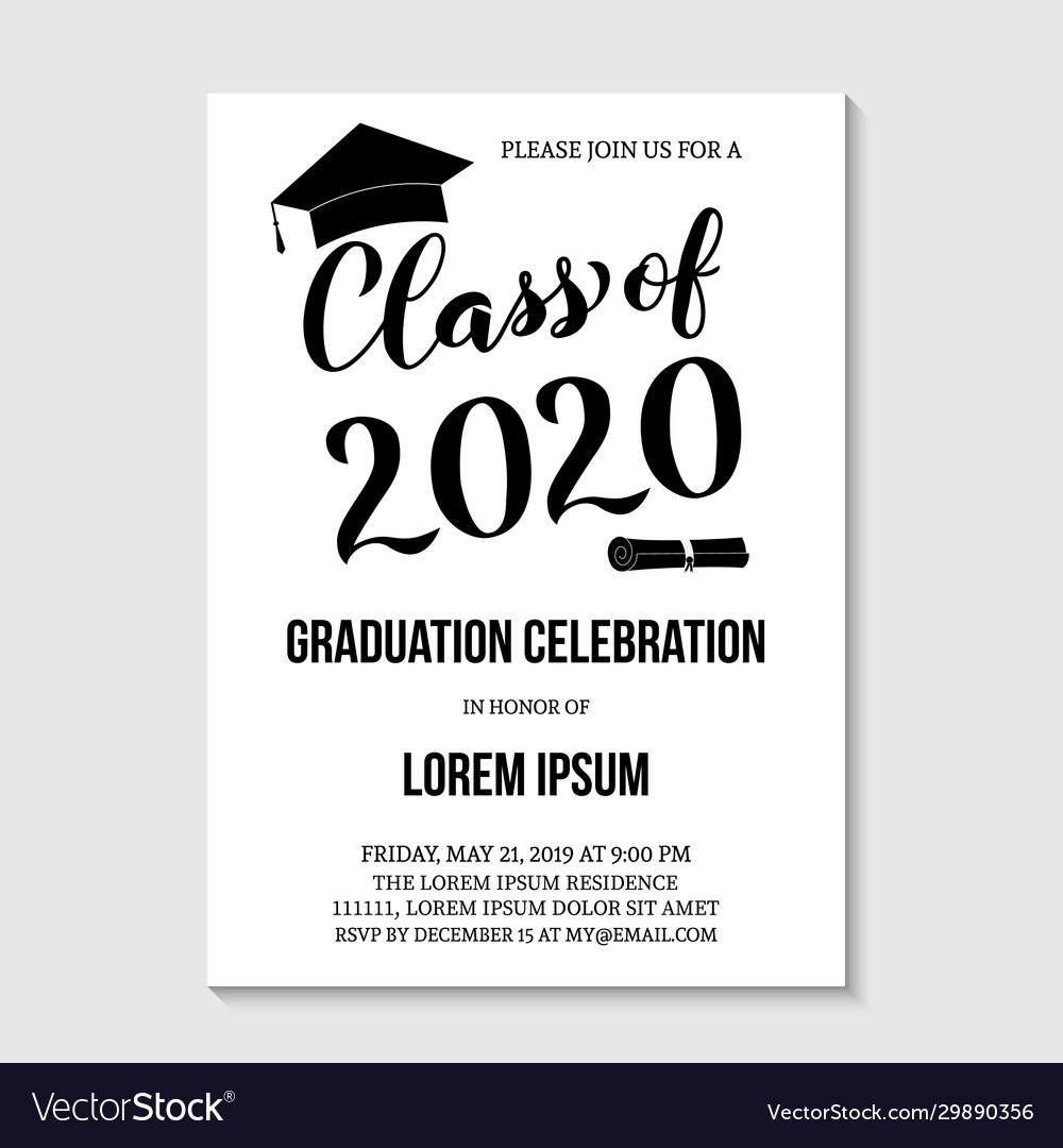 007 Impressive Graduation Party Invitation Template Concept  Microsoft Word 4 Per PageFull