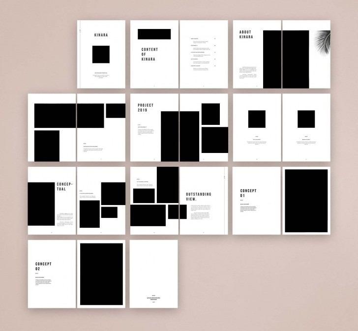 007 Impressive In Design Portfolio Template Highest Clarity  Free Indesign A3 Photography Graphic Download728