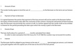 007 Impressive Loan Agreement Template Free Photo  Microsoft Word Australia South Africa