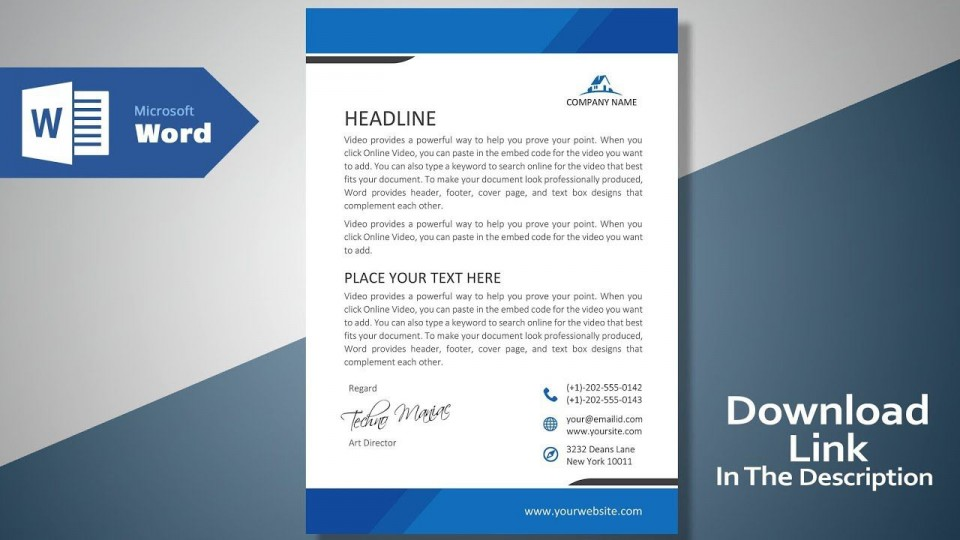 007 Impressive Microsoft Word Template Download Sample  Cv Free Portfolio960