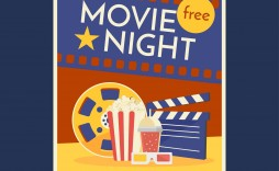 007 Impressive Movie Night Flyer Template Inspiration  Editable Psd Free